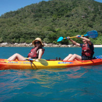 Sea kayaking Fitzroy Island Cairns