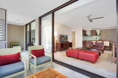 Spacious open plan living and balcony | Sea Temple Palm Cove Private Apartments
