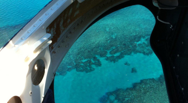 Scenic helicopter flights Great Barrier Reef Queensland Australia