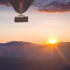 See spectacular sunrises from your hot air balloon