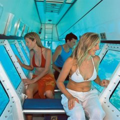 Semi-submersible submarine coral viewing tour on the Great Barrier Reef in Queensland Australia