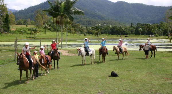 Set on a Farm with Happy Horses - Cairns Horse Riding Tour