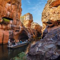Silent punt thru Cobbold Gorge outback Queensland