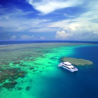 Outer Great Barrier Reef boat tours from Port Douglas in Queensland Australia