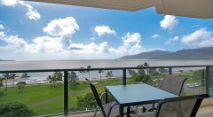 Ocean view from your esplanade apartment in Cairns Queensland Australia