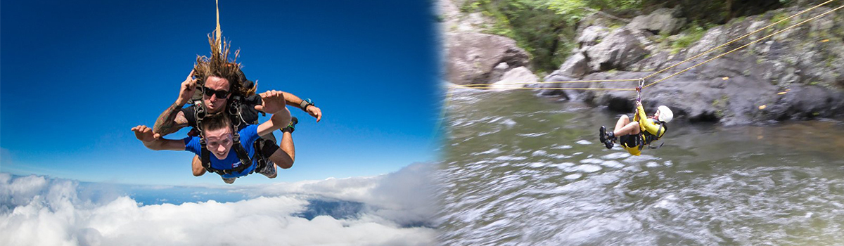 Cairns Canyoning &  Skydiving Combo Tour