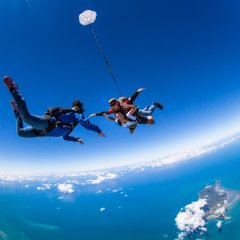 Skydiving With Coral Sea Below - Skydive Cairns