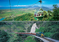 Cairns best value Skyrail Rainforest Cableway & Kuranda Train Scenic Railway Tours