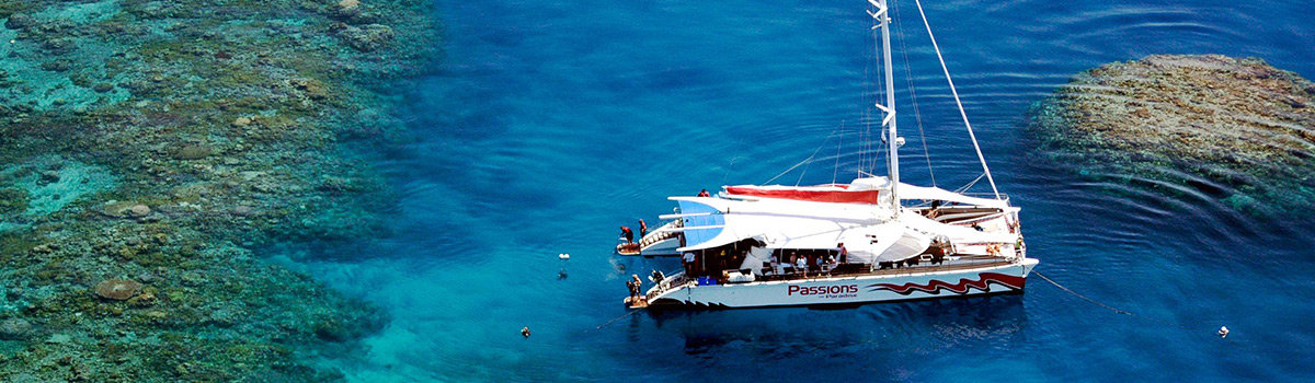 Small group Great Barrier Reef sail snorkel tour Cairns Queensland Australia