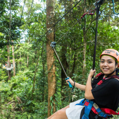 Smiling Zipliner Having Fun - Daintree Cape Tribulation Ziplining Tour