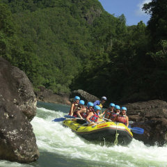 Looks easy here but look around the bend | Extreme White water Rafting on the Tully