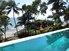 Soak up the ocean views of your private beach from your own private Swimming Pool - Port Douglas Beachfront Holiday Home