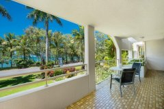 Spacious Balconies with Beach Views - - Cairns Beaches Accommodation