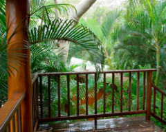Spacious Balcony to enjoy the tranquility - Milkwood Lodge Cooktown Accommodation