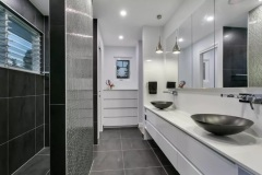 Spacious double vanity Master Bathroom