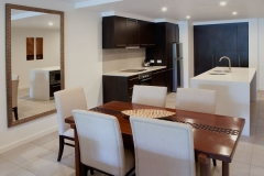 Spacious Dining & Kitchen in the Pullman Sea Temple holiday Apartments in Port Douglas