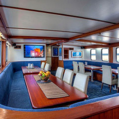 Great Barrier Reef Liveaboard Dive Trip, Spacious galley on board dive boat, Cod Hole, Ribbon Reefs, Coral Sea