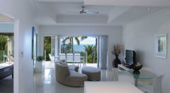 Spacious Living Area with Ocean Views at Island Views Luxury Apartments, Palm Cove