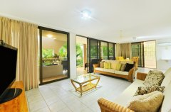 Spacious living areas in the holiday apartments