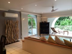 Spacious Lounge Room on the top floor with Pool & Beach Views at Alamanda Palm Cove Private Apartment