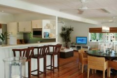 Spacious open air living at this Port Douglas holiday house