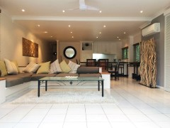 Alamanda Resort Spacious open plan lounge and dining and balconies - Private Apartment 94 Palm Cove