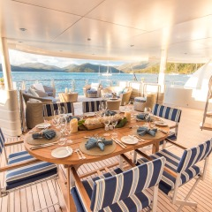 Spacious Outdoor Dining Area | Great Barrier Reef Private Charter Boat