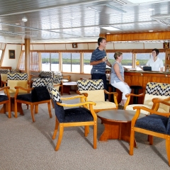 Spacious saloon on our Cairns Cruise Ship