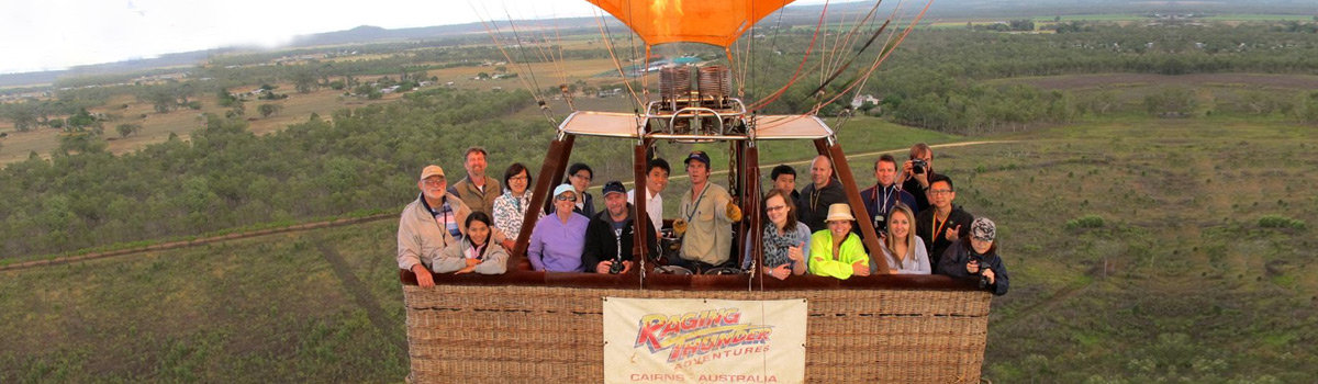 Spectacular hot air ballooning from Cairns Queensland Australia