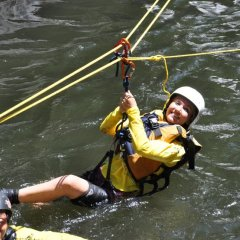 Splash Down Into Cool Clear Water - Cairns Canyoning