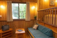 Split level Pole Cabins with Open plan living and bedroom area - Milkwood Lodge Cooktown Accommodation
