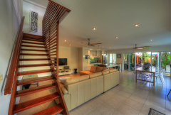 Stairs leading up to the 3 Bedrooms - Palm Cove Holiday House