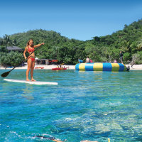 Stand up paddle board on Fitzroy Island Great Barrier Reef Australia
