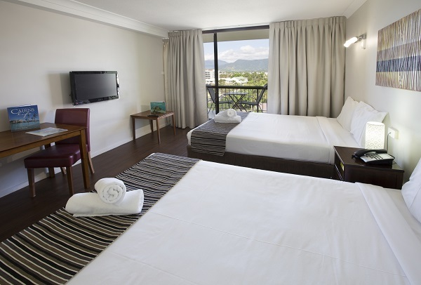 Cairns Esplanade Accommodation-Standard Room at Cairns Plaza Hotel