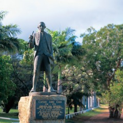 Statue of Captain Cook in Cooktown