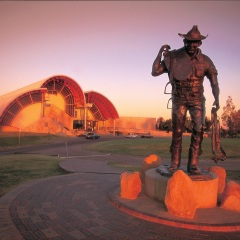 Exterior view of Stockmans Hall of Fame Longreach outback Queensland