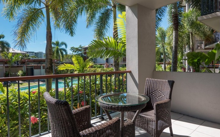 Studio Apartment Balcony - Blue Lagoon Resort Trinity Beach