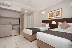 Studio Room With Twin Bedding at Southern Cross Atrium Apartments Cairns