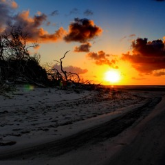 Stunning Beach Sunset | 15 Day Cape York Camping Safari North Queensland