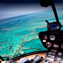 Stunning Great Barrier Reef Views from Helicopter off Cairns Australia