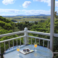 Stunning Views from Tinaroo Sunset Retreat located on the Cairns Atherton Tablelands