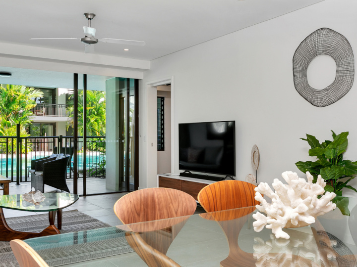 Stylish decor within each private holiday apartments at Sea Temple Port Douglas Private Apartments