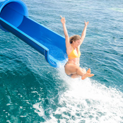 Waterslide on the Great Barrier Reef Pontoon off Cairns