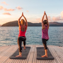 Sunrise Yoga Session on the Aft Deck