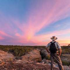 Sunset at Cobbold Gorge outback Queensland, Australia