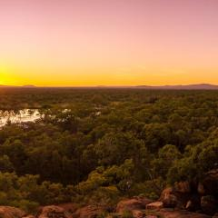 Sunset at Undara National Park outback Cairns