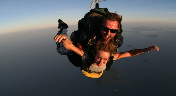 Sunset skydives with Skydive Cairns