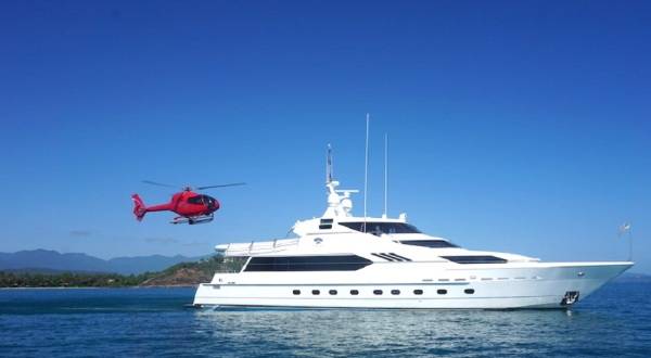 Superyacht Charters Great Barrier Reef - Heli Pad on Superyacht