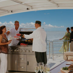 Superyachts Cairns - Barbeque on Upper Deck