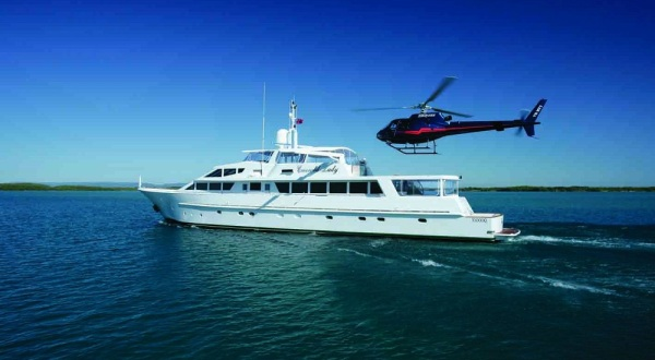 Superyachts Great Barrier Reef - Heli Pad Landing on the Superyacht